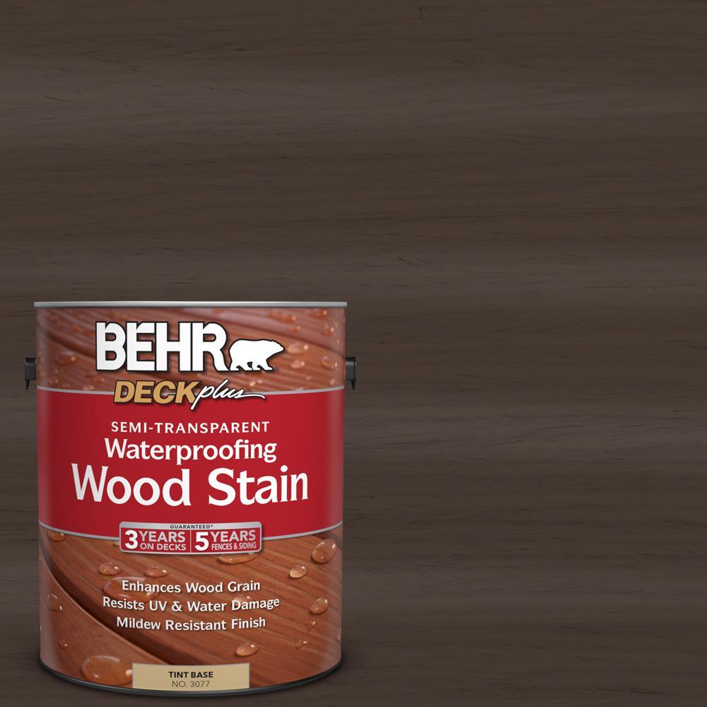 1 gal. #ST-103 Coffee Semi-Transparent Waterproofing Wood Stain