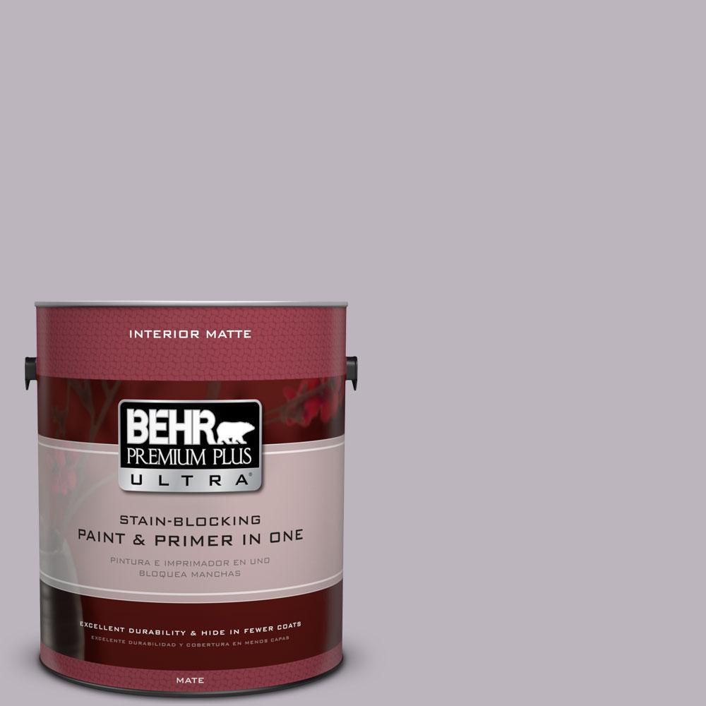 BEHR Premium Plus Ultra 1 gal. #N100-3 Future Vision Matte Interior Paint