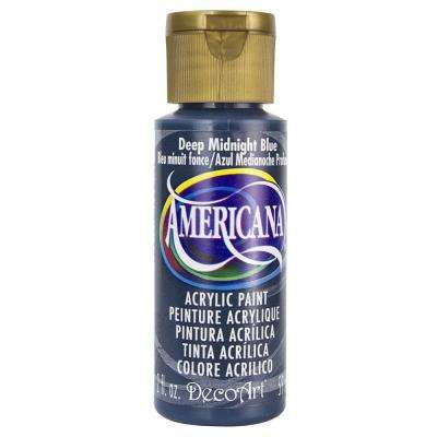 Americana 2 oz. Deep Midnight Blue Acrylic Paint