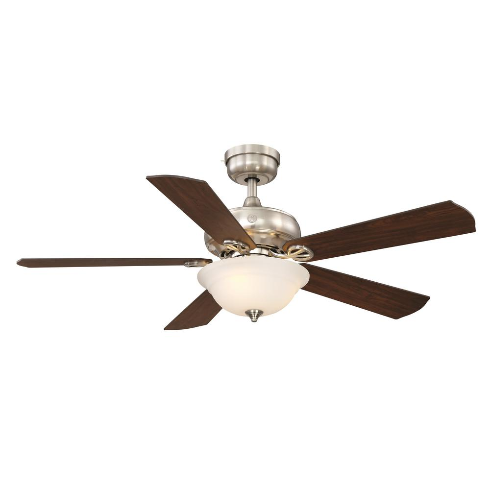 Ceiling Fans Product : Ge selena in led indoor brushed nickel ceiling fan