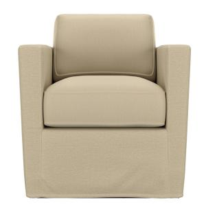 Peachy Handy Living Anastasia Swivel Club Chair In Oatmeal Tan Theyellowbook Wood Chair Design Ideas Theyellowbookinfo