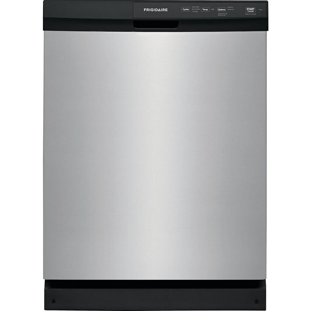 Frigidaire 24 In Built Front Control Tall Tub Dishwasher Stainless Steel 60 Dba