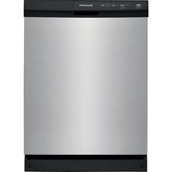 24 in. Built-In Front Control Tall Tub Dishwasher in Stainless Steel, 60 dBA