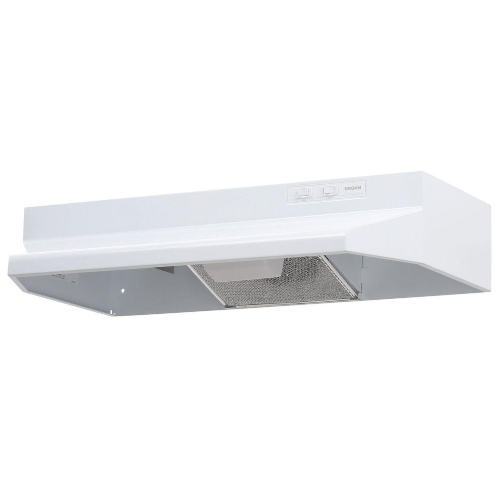 Under Cabinet Range Hood With Light In White