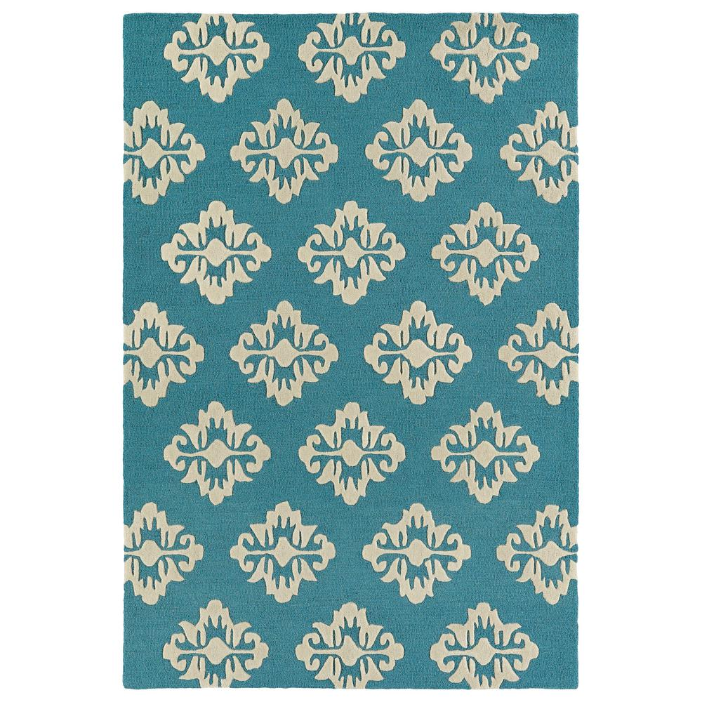 Kaleen Helena Turquoise Area Rug Reviews: Kaleen Spaces Turquoise 2 Ft. X 3 Ft. Area Rug-SPA09-78-23