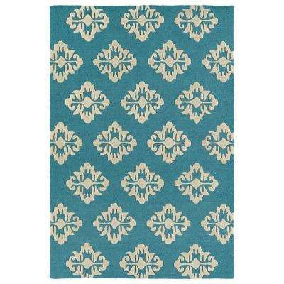 Spaces Turquoise 2 ft. x 3 ft. Area Rug