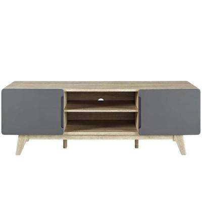 Tread 59 in. Natural Gray TV Stand