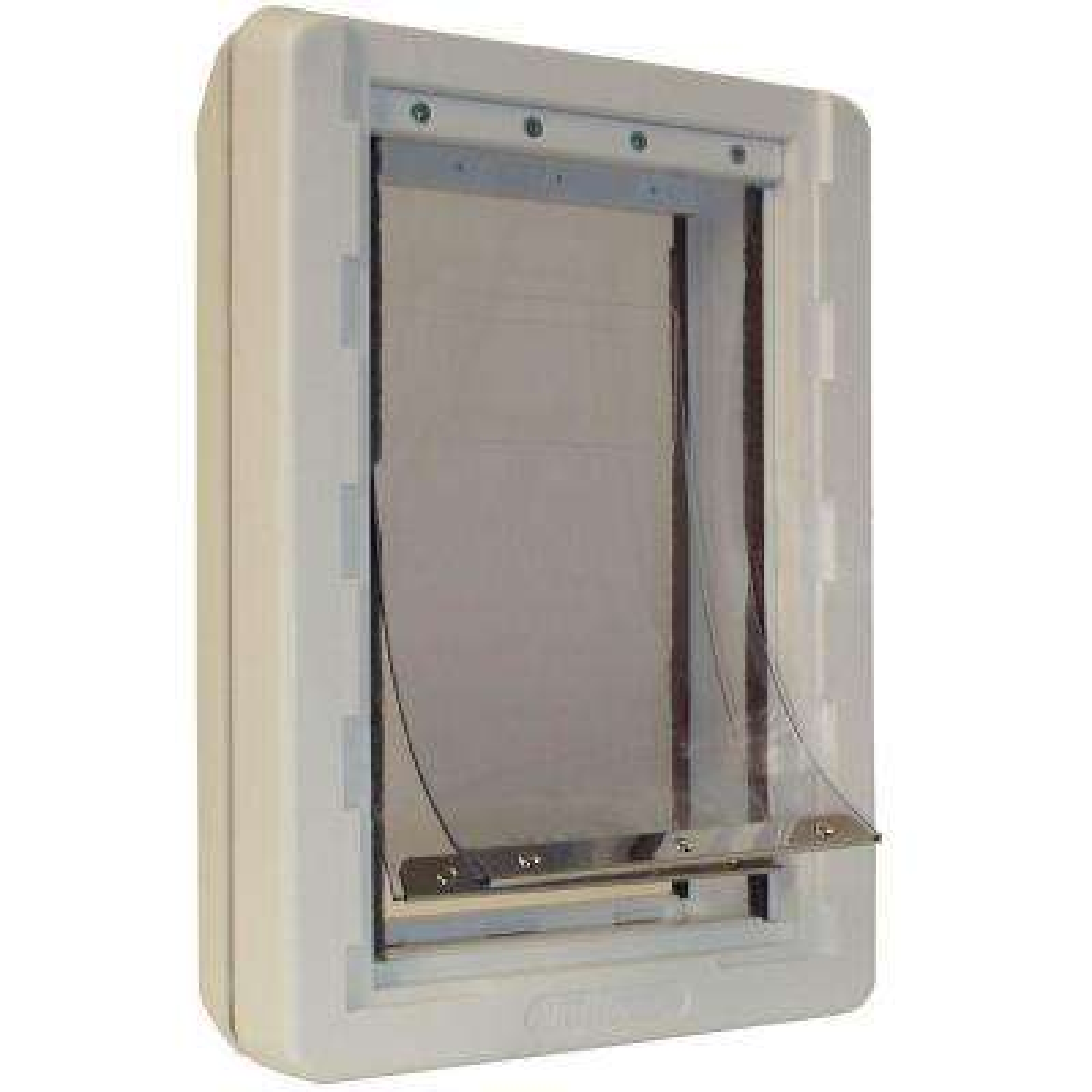 7.25 in. x 13 in. Medium Ruff Weather Frame Door with Dual Flaps