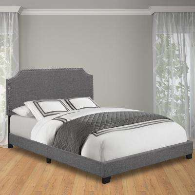 Stone Queen Upholstered Bed