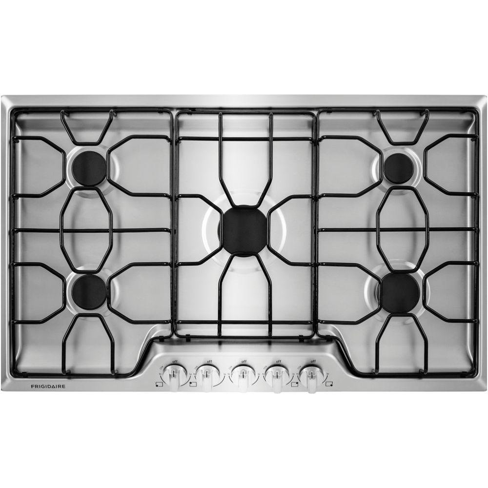Frigidaire 36 in. Gas Cooktop in Stainless Steel with 5 Burners