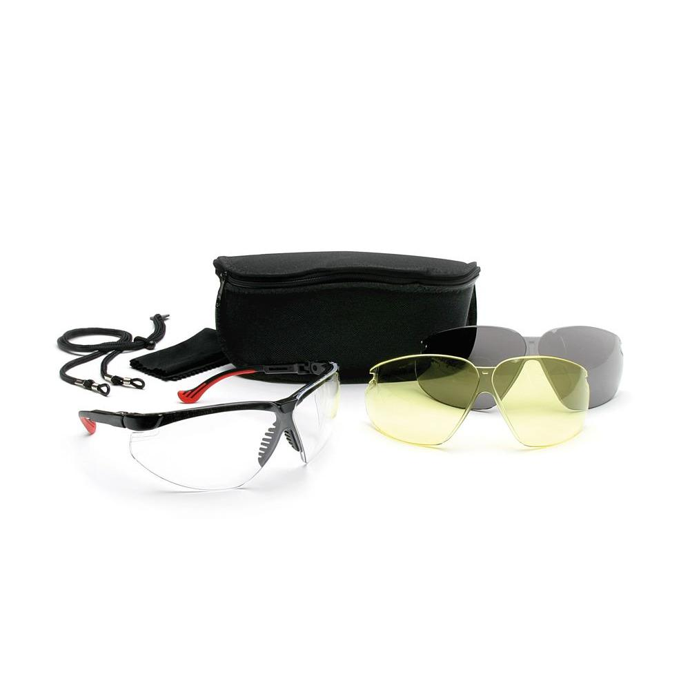 Howard Leight Sharp-Shooter Genesis XC Combo Package with 3 Anti-Fog Lenses and Eyewear Case