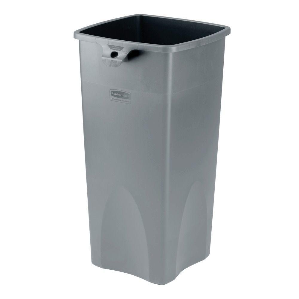 Slim Jim 23 Gal. Untouchable Base Lid Combo Waste Basket