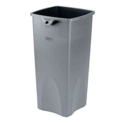 Untouchable 23 Gal. Grey Square Trash Can