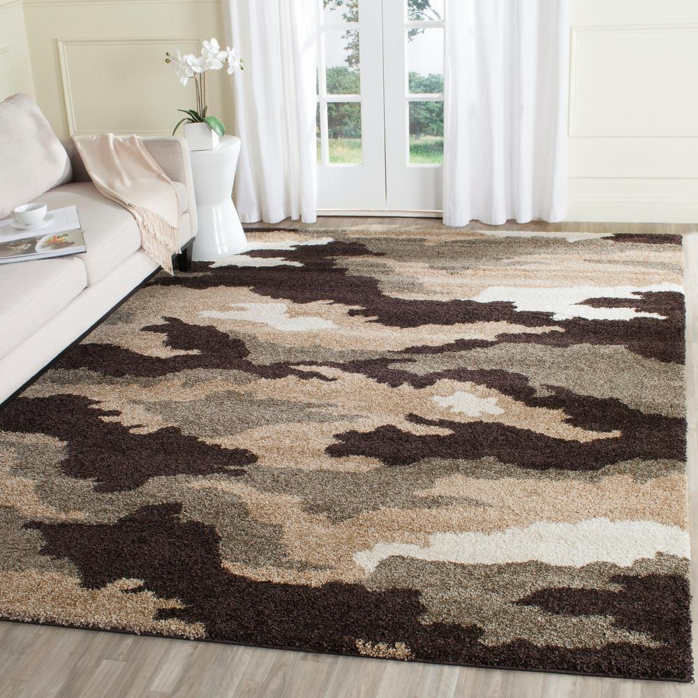 Florida Shag Beige/Multi 8 ft. x 10 ft. Area Rug