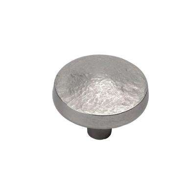 Bedrock 1-1/4 in. Flat Nickel Cabinet Knob