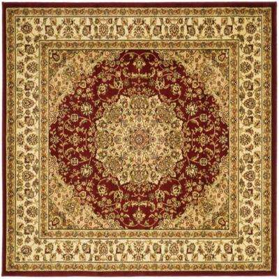 Lyndhurst Red Ivory 8 Ft X Square Area Rug
