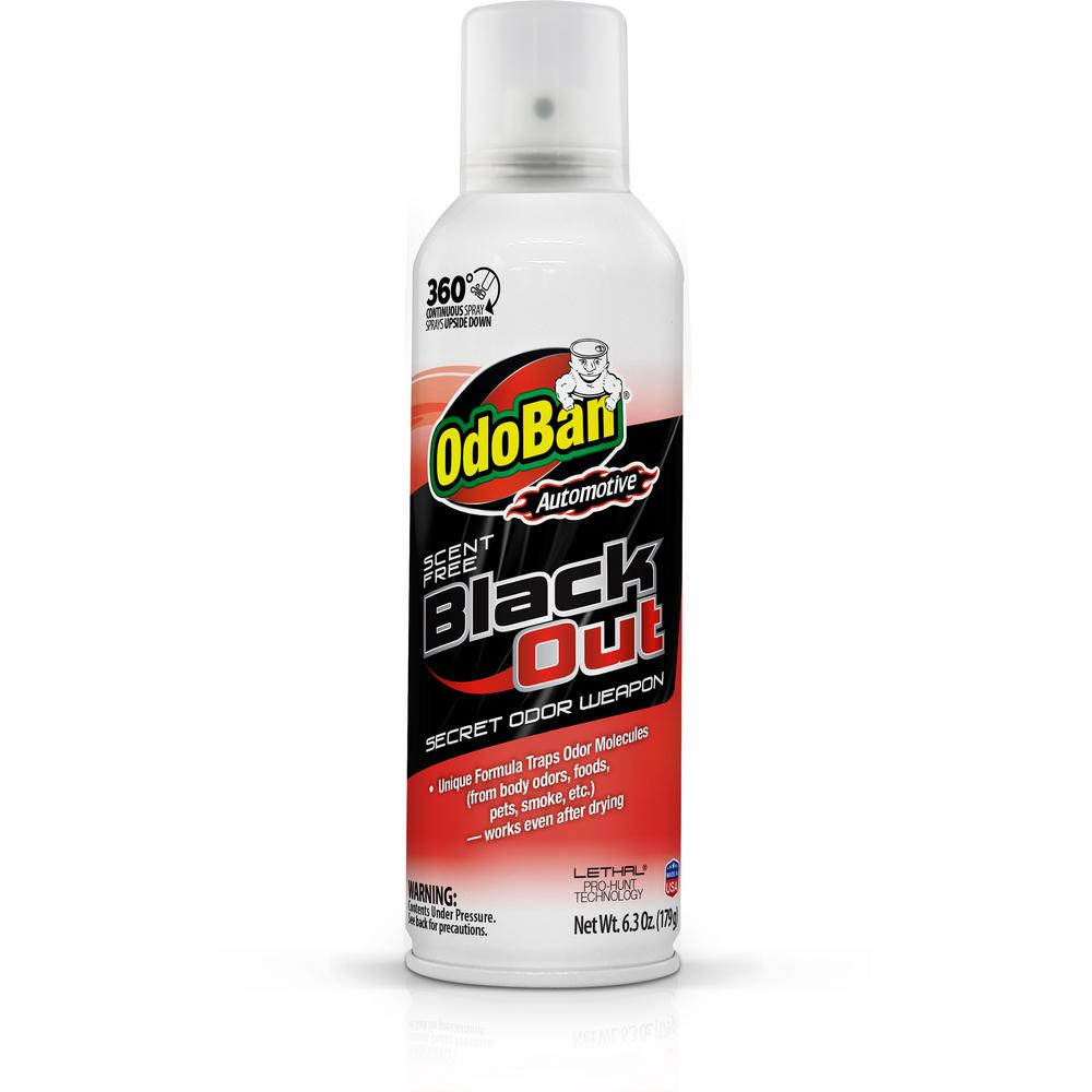 Automotive 6.3 oz. Black Out Unscented Odor Weapon 360-Degree Spray