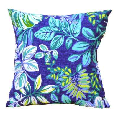 Tropical Palm Square Outdoor Throw Pillow