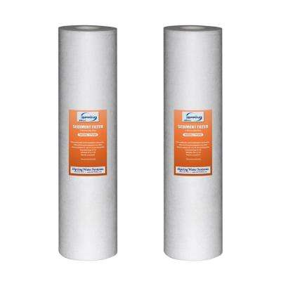 123Filter 20 in. x 4.5 in. 5 Micron Big Blue Sediment Water Filter Replacement Cartridge (2-Pack)