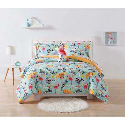 Kids Party Animals Twin Extra Long Comforter Set