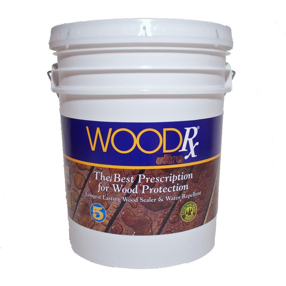 WoodRx 5 Gal. Ultra Walnut Wood Exterior Stain And Sealer