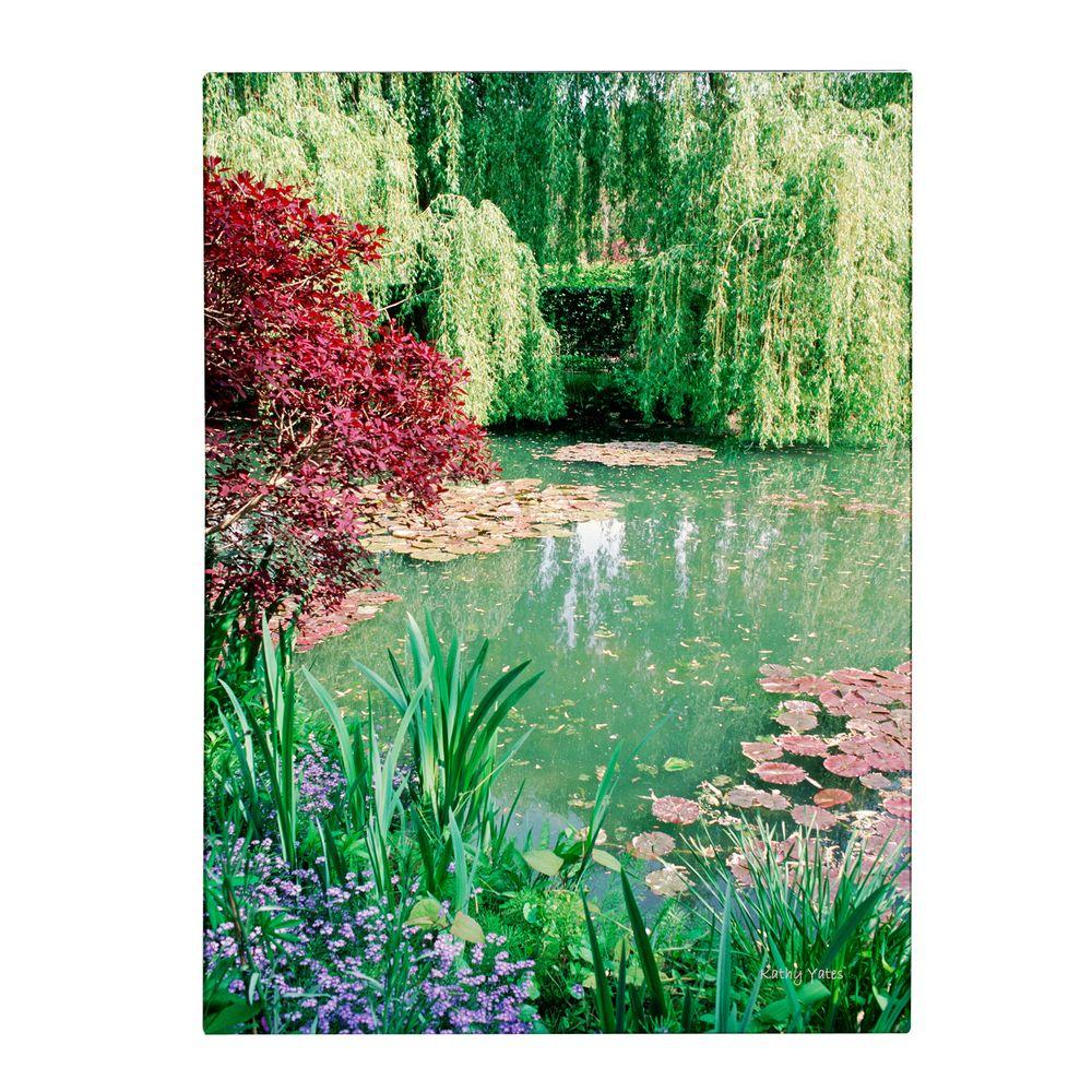 Trademark Fine Art 19 in. x 14 in. Monet's Lily Pond 2 Canvas Art