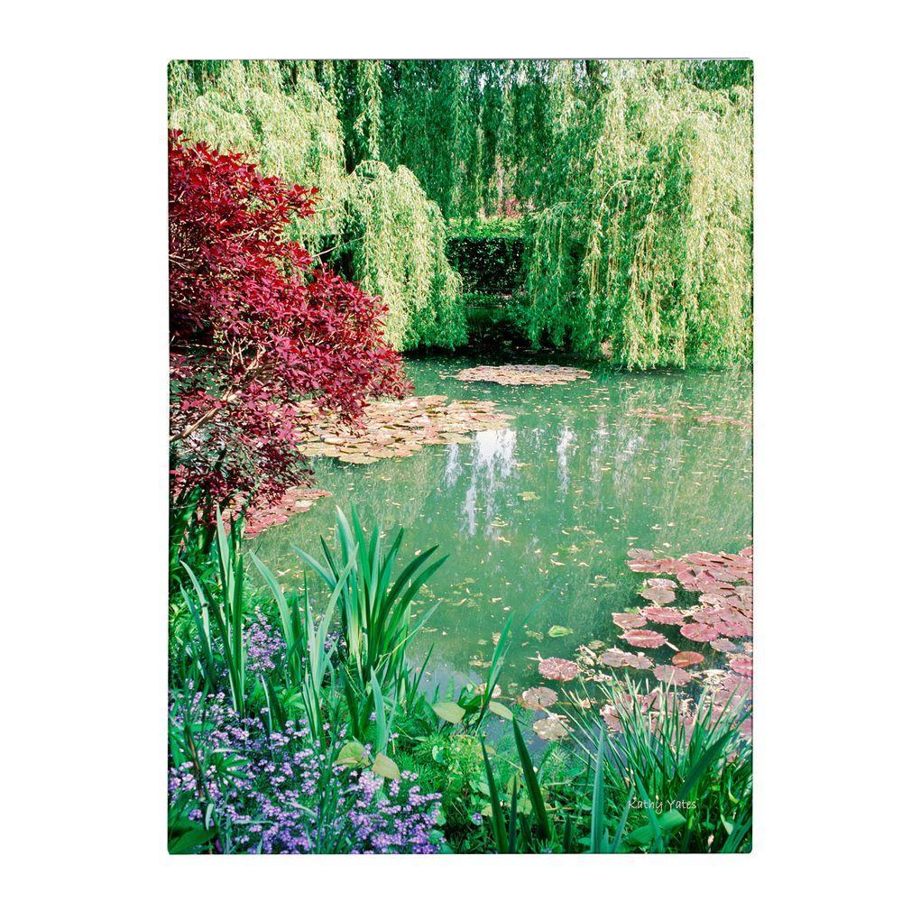 Trademark Fine Art 47 in. x 30 in. Monet's Lily Pond 2 Canvas Art