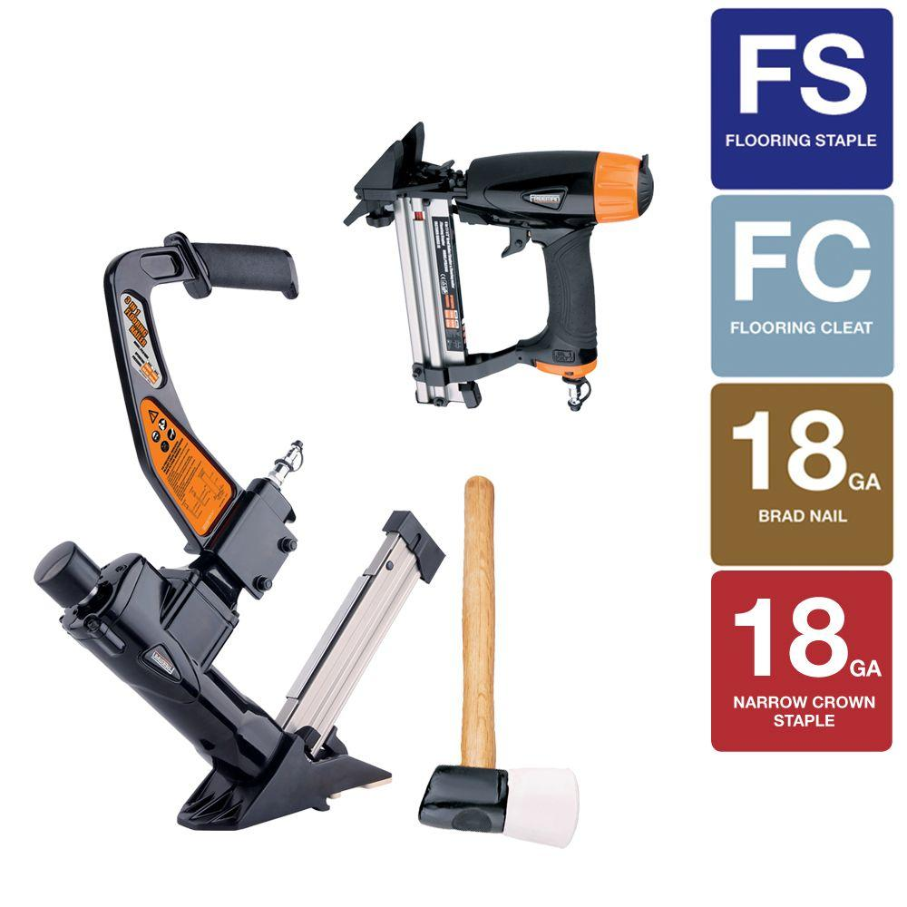 Freeman Professional Flooring kit with 3-in-1 Flooring Nailer/Stapler and 4-in-1 Mini Flooring gun