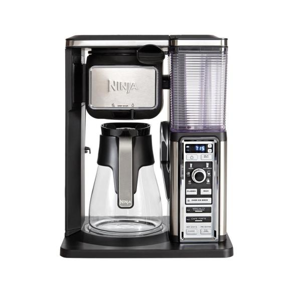 Ninja 10-Cup Black Drip Coffee Maker with Glass Carafe CF091