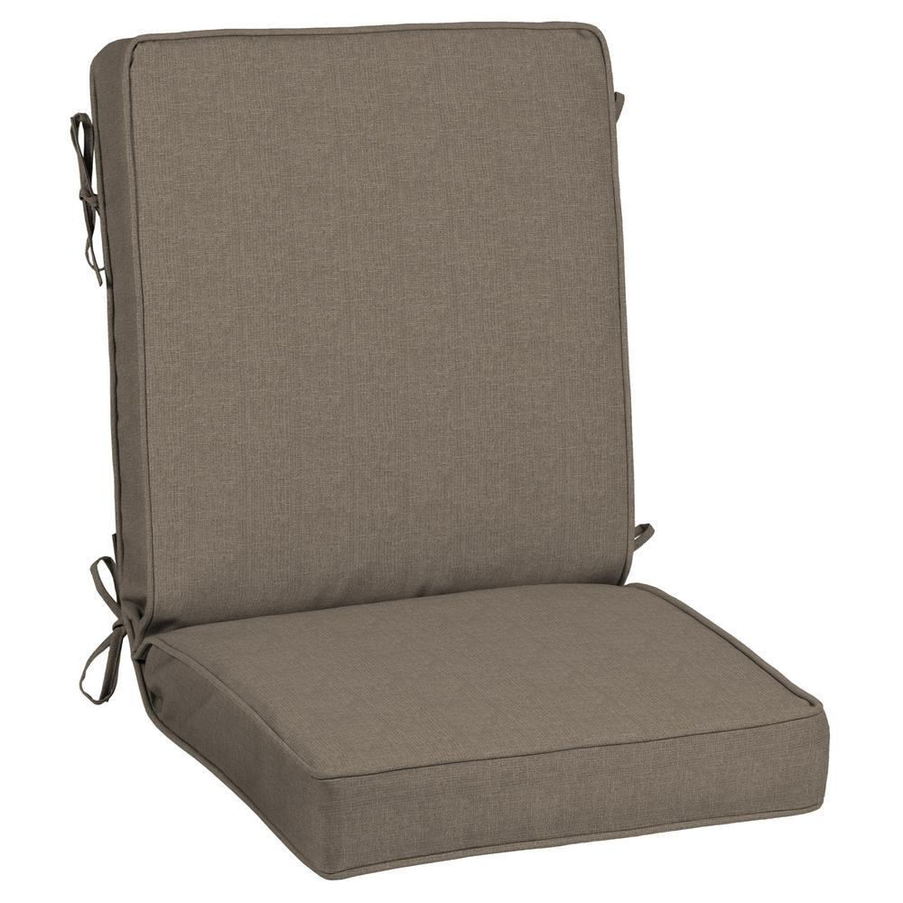 21 x 44 Sunbrella Cast Shale Outdoor Dining Chair Cushion