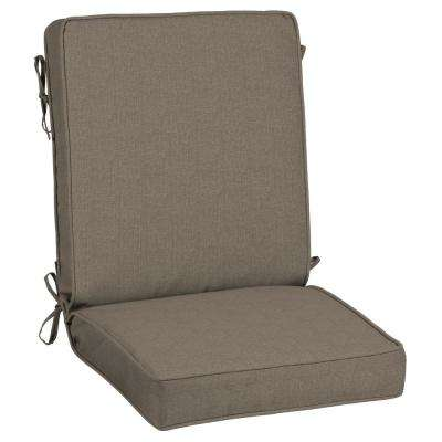 21 x 20 Sunbrella Cast Shale Outdoor Dining Chair Cushion