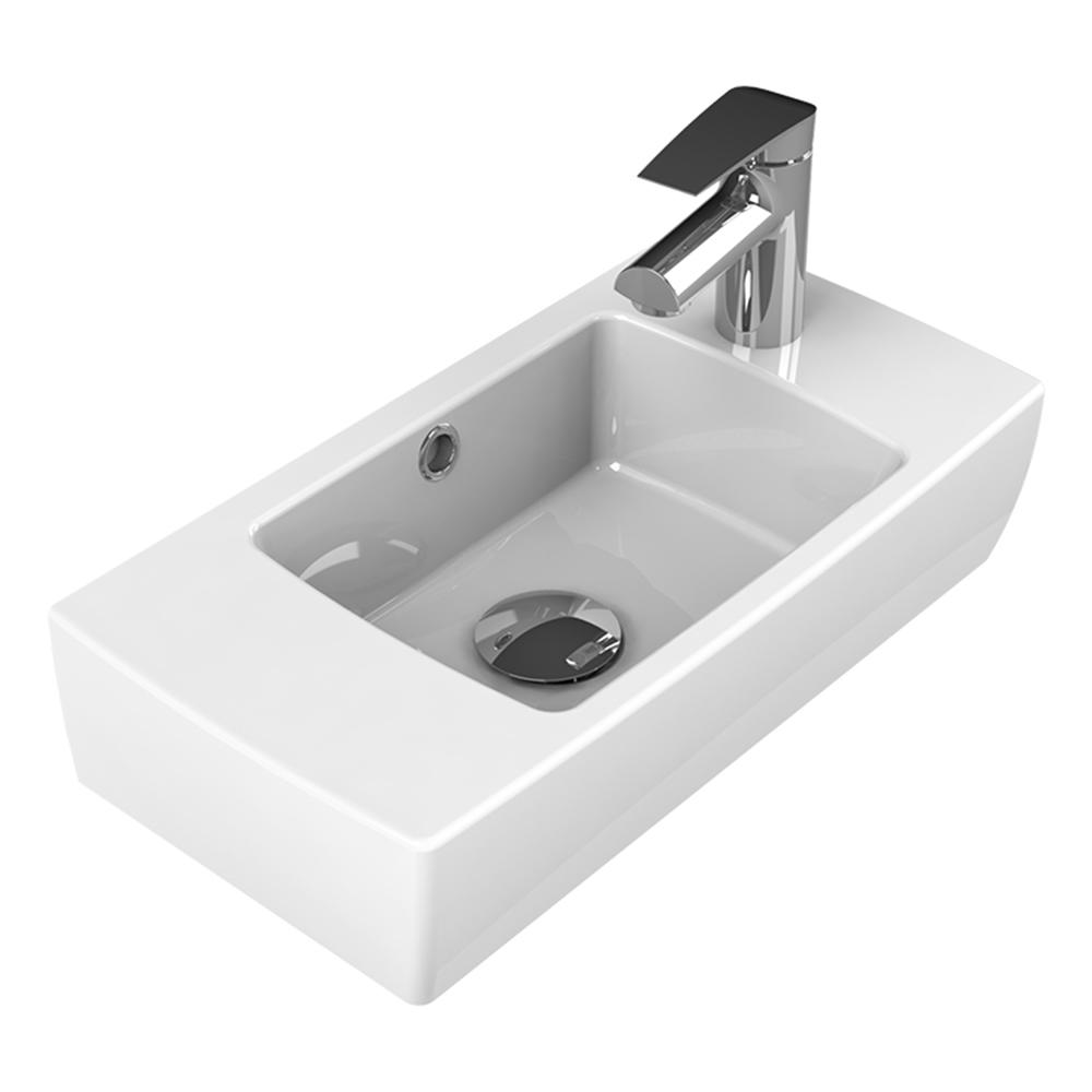City Wall Mounted Bathroom Sink in White