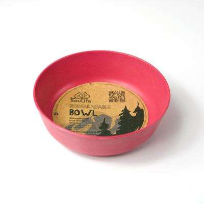 16 oz. Pink Bamboo Bowl (6-Pack)