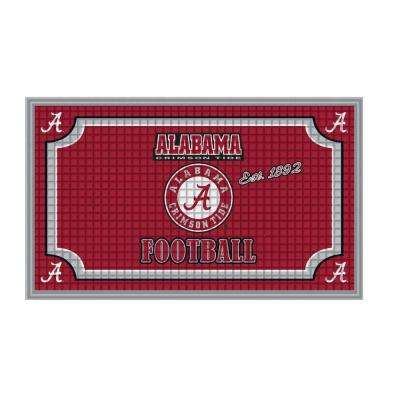 Amazing University Of Alabama 18 In. X 30 In. Embossed Welcome Mat