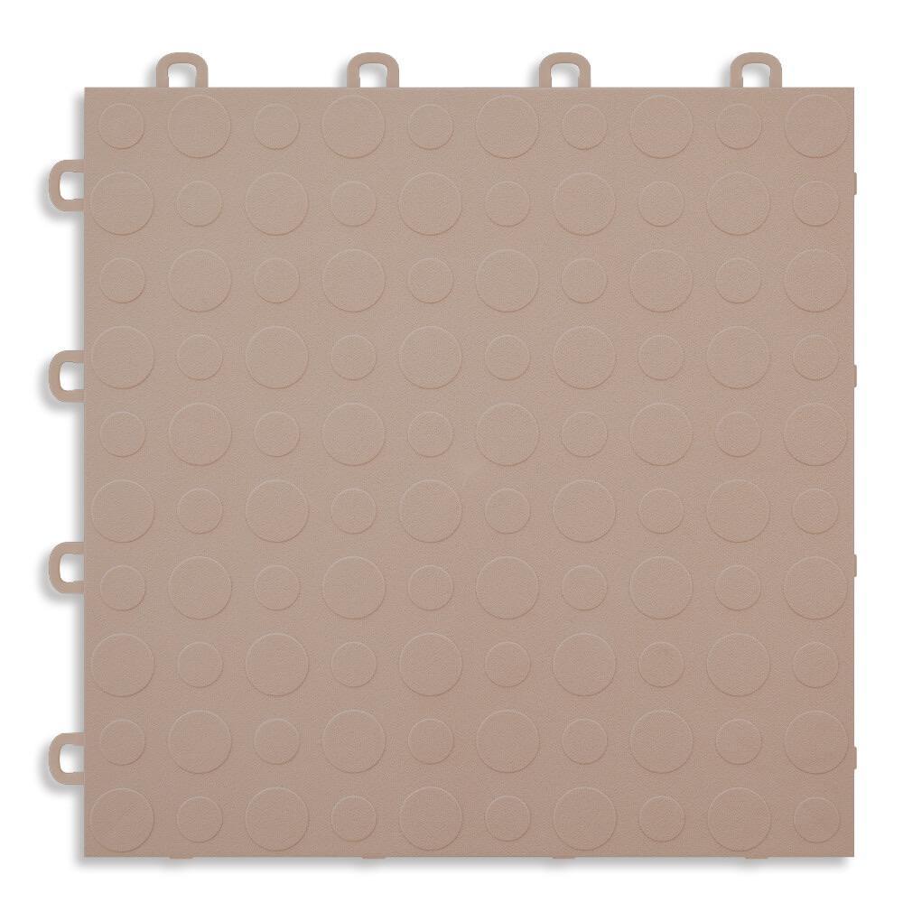 Beige - 12 in. x 12 in. Modular Interlocking Garage Floor Tile (Set of 30)