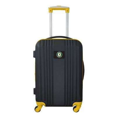MLB Oakland A's 21 in. Hardcase 2-Tone Luggage Carry-On Spinner Suitcase
