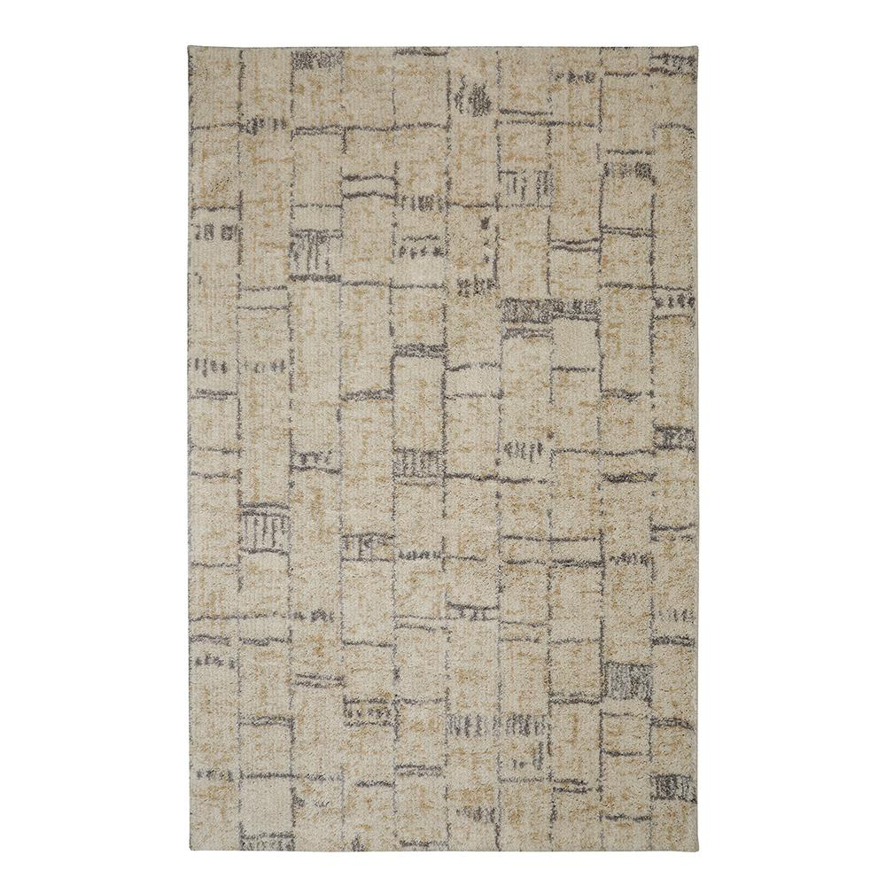 Mohawk Floor Work Cream 5 Ft X 8 Ft Area Rug 016119 The Home Depot
