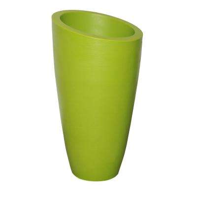 Modesto 42 in. Macaw Green Plastic Planter