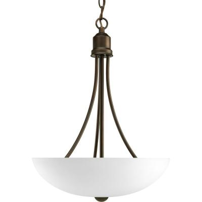Gather 2-Light Antique Bronze Foyer Pendant with Etched Glass
