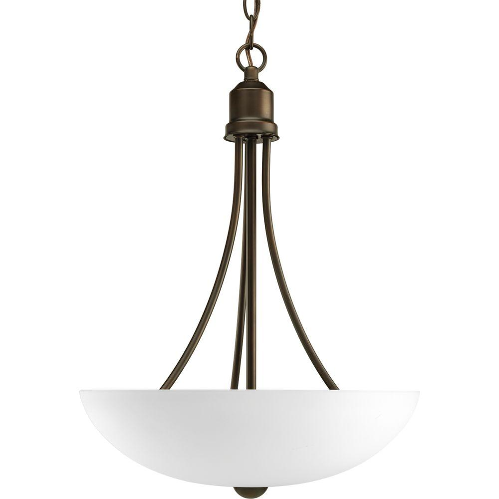 Progress lighting gather collection 2 light antique bronze foyer progress lighting gather collection 2 light antique bronze foyer pendant with etched glass arubaitofo Gallery