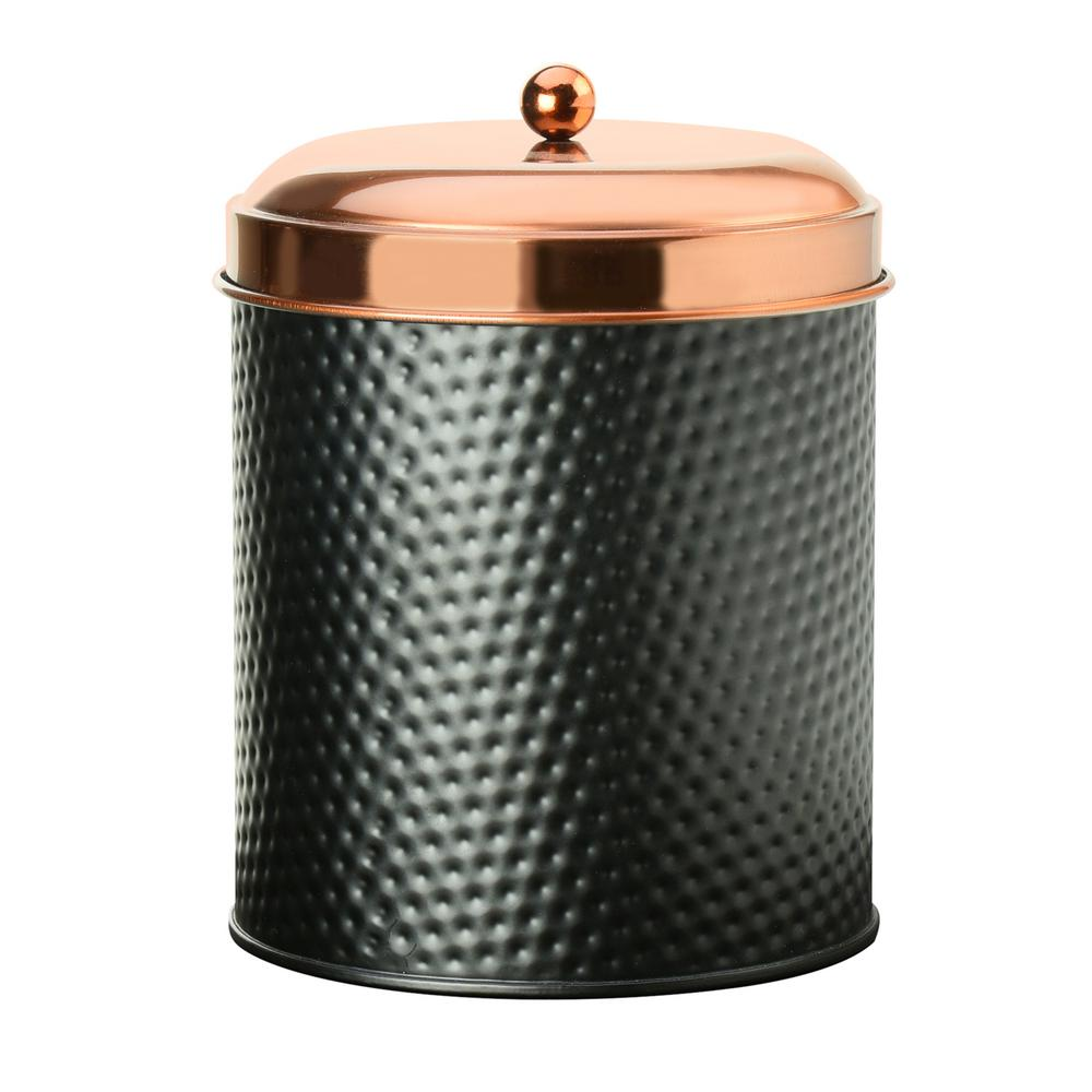 Metal Storage Canister With Copper Lid 7cdi033r The Home Depot