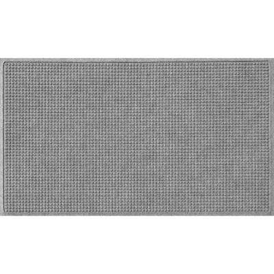 Medium Gray 36 in. x 60 in. Squares Polypropylene Door Mat
