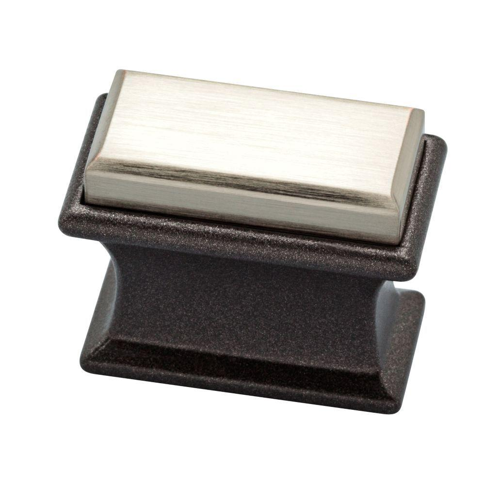 Luxe Square 1-2/5 in. (36mm) Dual Tone Cocoa Bronze and Satin