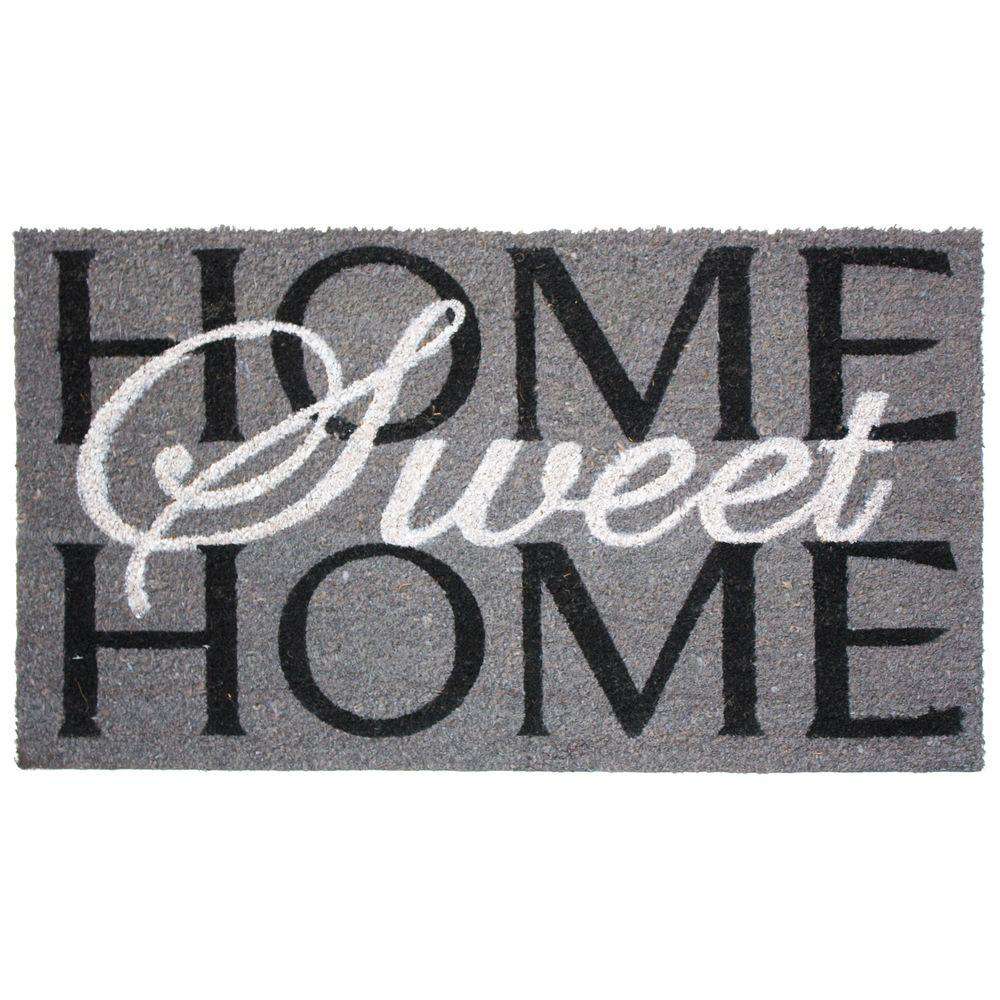 J & M Home Fashions Home Sweet Home 24 in. x 36 in. Vinyl Back Coco Door Mat