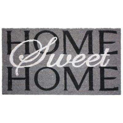 Home Sweet Home 24 in. x 36 in. Vinyl Back Coco Door Mat