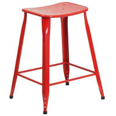 23.75 in. Red Bar Stool