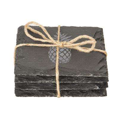 Pineapple 4 in. x 4 in. Slate Coasters