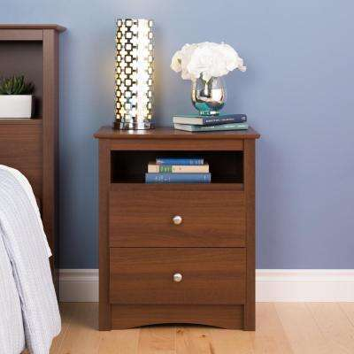 Sonoma 2-Drawer Warm Cherry Nightstand
