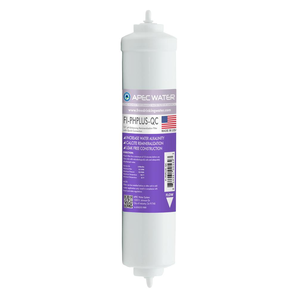 Ultimate 10 in. Calcium Carbonate Alkaline Filter with 1/4 in. Quick