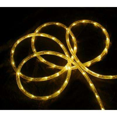 18 ft. 108-Light Yellow Indoor/Outdoor LED Christmas Rope Lights